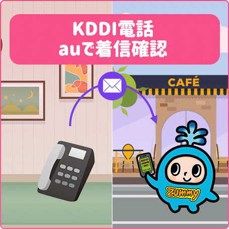 KDDI電話auで着信確認