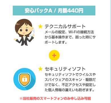 安心パックA / 月額400円