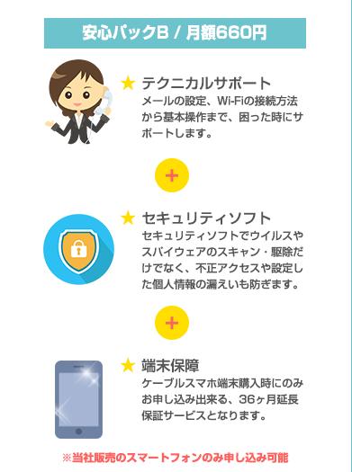 安心パックB / 月額600円