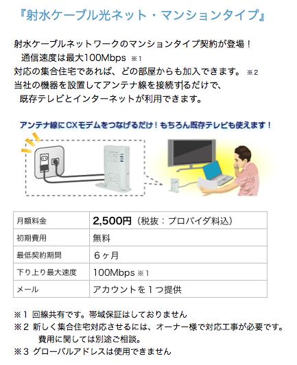 射水ケーブル光ネット・マンションタイプ
